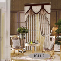 2015 china design royal style white sheer drapes for weddings