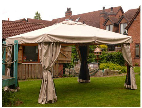 4*4m patio gazebo with square steel tube corner post