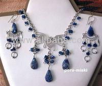 Semiprecious Stones Sets, Necklaces and matching earrings - Peru Miski