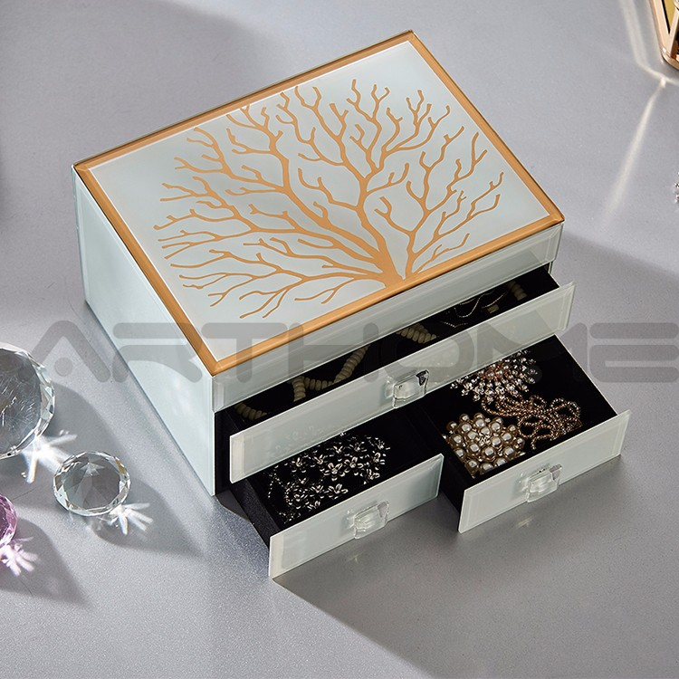 Festive Gift Mirror Home Decoration Seashell Jewelry Boxes