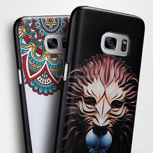 New PU 3D embossed printing design mobile phone cover for Samsung S7/ Iphone