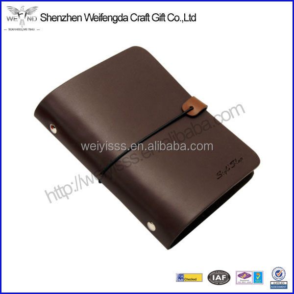 High Quality Vintage Travel Journal Leather Elastic Diary Notebook