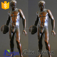 life size nude casting bronze man sculpture for garden decoration NTBH-S0618R