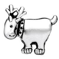 High quality Stamp Silver Plated Deer European Bead Charm Infant Charm Bracelets Charm