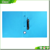 plastic PP hard cover a4 size durable metal spring clip file folder