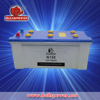 Manufacture automotive car battery n150 12v 150ah