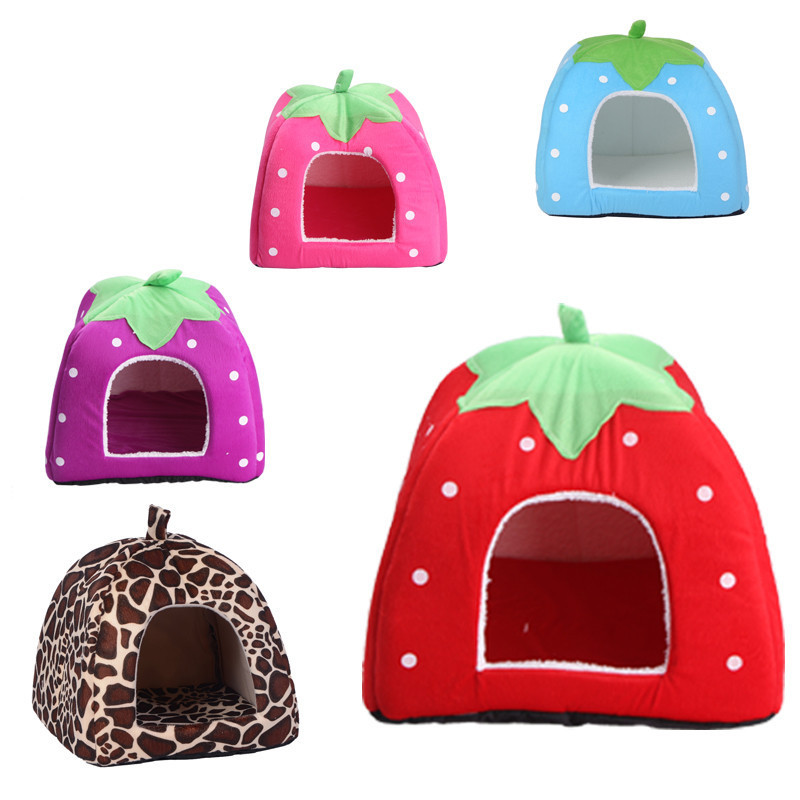 ShenZhen Plush Strawberry shaped sweat and pretty pet products bed for dogs or cats