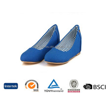 china export directly best quality increase elevators qvc sole without lace cut out blue women loafers shoes