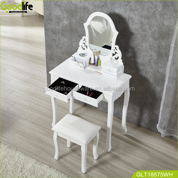 Goodlife brown makeup table professional makeup vanity table wholesale