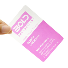 4C Printing Plastic PVC Clear Loyalty Card