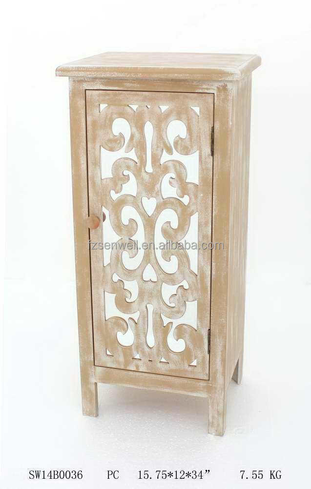 antique storage chest With mirror design for home