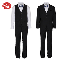 New arrival fancy wholesale made to measure slim 3 pieces wedding suits for men