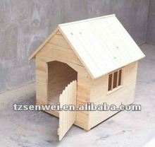 wooden dog house, simple pet house, composite wooden dog cage