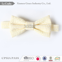 Factory wholesale yellow striped cheap ribbon bow ties for kids