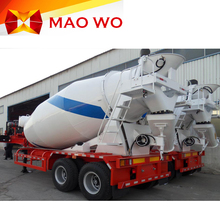 Cheap high quality concrete mixer semi trailer for sale in China