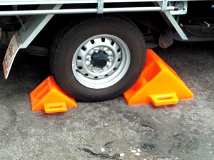 solid wheel chocks