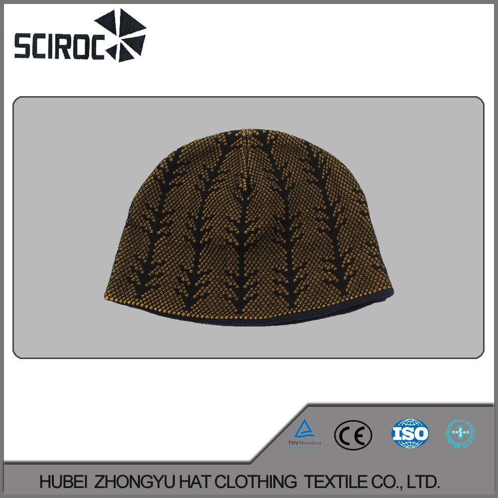 Outdoor wholesale fashion custom adult knitted cap
