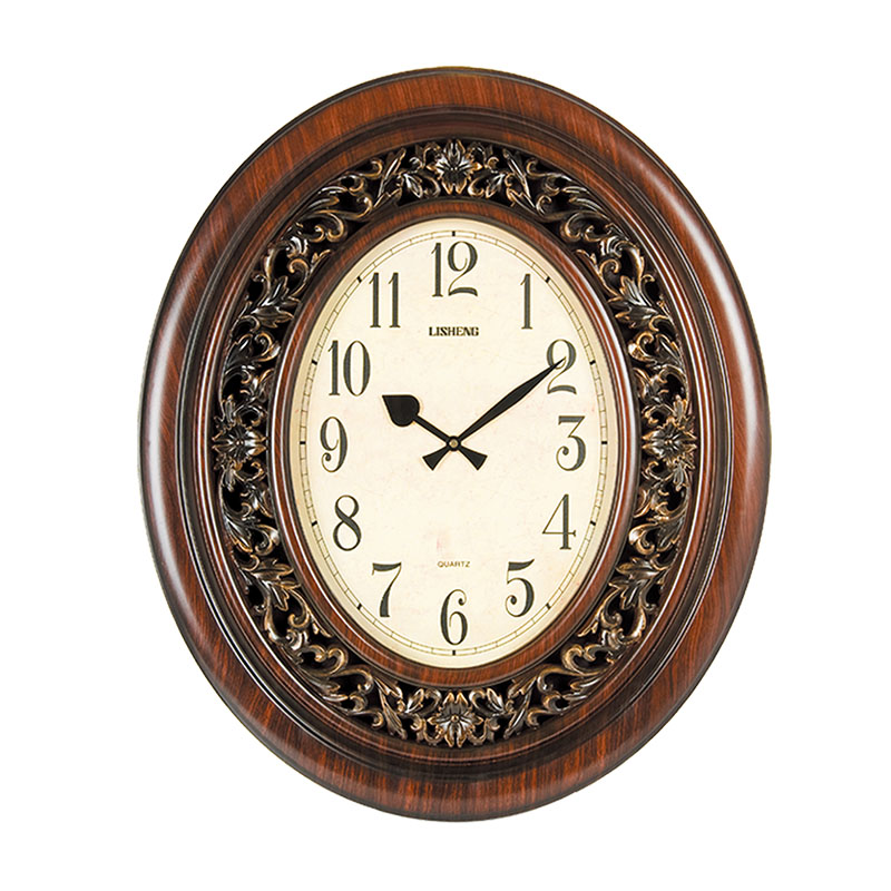 Imitation wood wall clock japan movement B8070