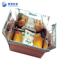 cardboard box lined with aluminium foil paper/insulated shipping boxes