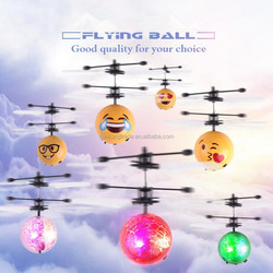 2017 Cheapest Flying Minion Infrared emoji LED Magic rc flying ball helicopter toys