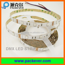 12V input rgb color 5m/reel flex smd 5050 address changeable dmx led strip