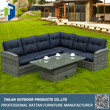 Rattan outdoor furniture handweaving, wholesale c shaped sofa set