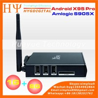 X95 PRO Amlogic S912 Android 6.0 TV Box X95pro with WIFI 2.4+ 5.8G Android TV Box x95 Pro