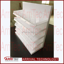 elegant high quality promotional storage stand white acrylic nail polish display rack cosmetic makup drug store