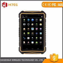 Trade assurance 7inch handheld wireless ip 65 android biometric rugged tablet pc with barch