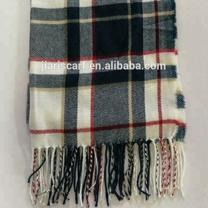 hot selling fashion knitting scarf with check style