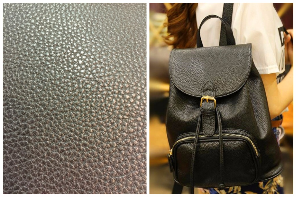 New Design Excellent Quality Litchi Grain Embossed Synthetic PVC Leather for bags, artificial Leather