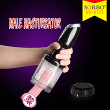 USB Rechargeable Fake Penis Sex Toys Rubber Pussy for Men Long Time Sex Spray for Men