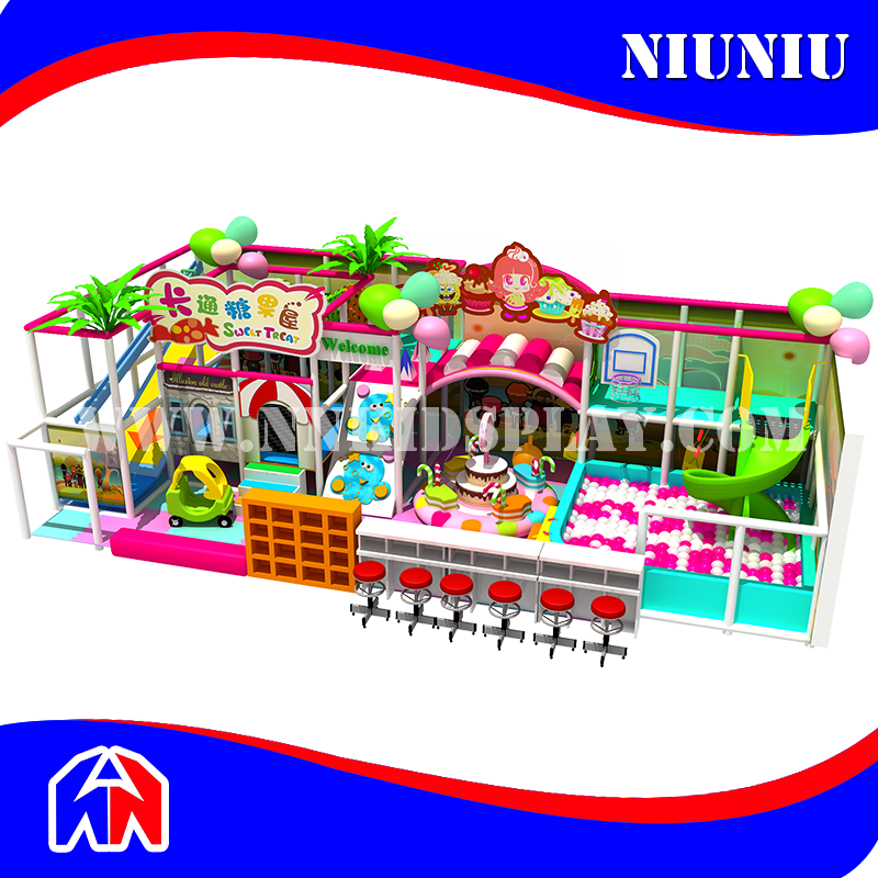 Candy Design Soft Play Blue Sea Happy Kids Indoor Castle Playground