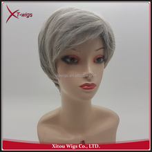Wholesale Top Quality Straight Short Style Grey Hair Wig