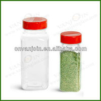 Glass French Square Bath Salt Bottles