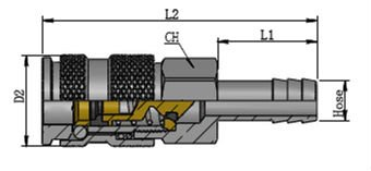 Series 310--ISO-B6 standard Type Pneumatic Quick Couplings