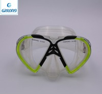 Advanced professional New Good Quality Tempered Glass Lens Dive Goggles/mask with Adjustable Strap