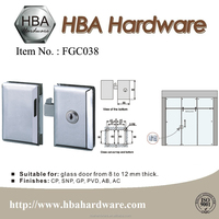 Stainless Steel Door Lock Glass Lock