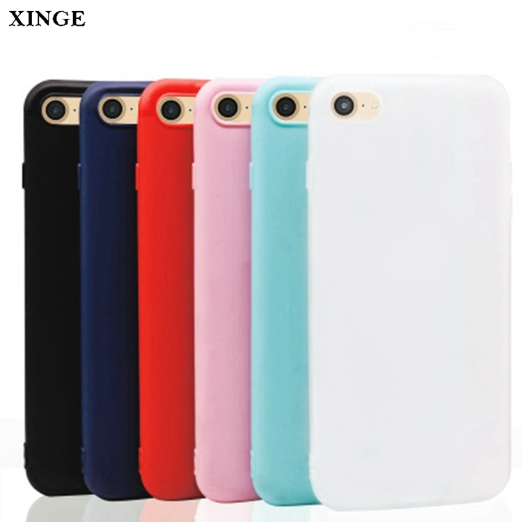 Slim Candy Color Frosted Matte Custom Rubber Silicon Phone Case For Iphone X
