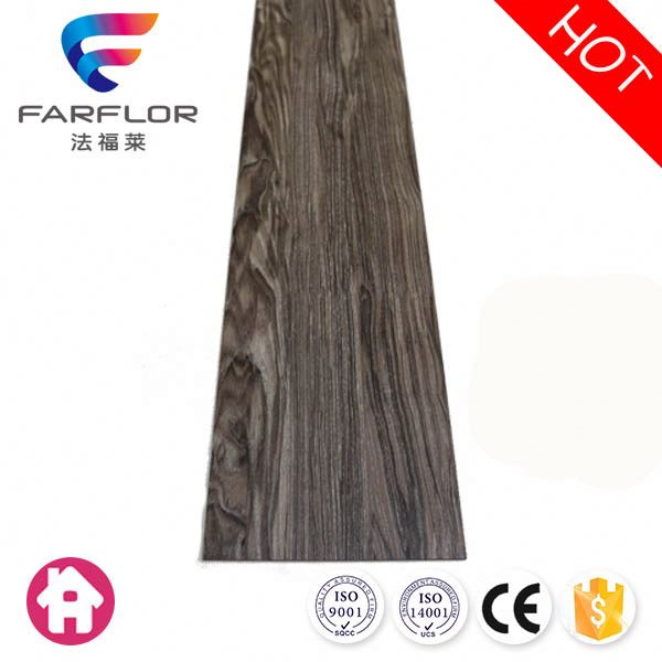 Popular easy to clean black wood pvc flooring plank