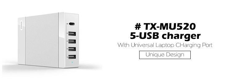 Tommox Factory 5V/8A 40W 4 USB WALL CHARGER