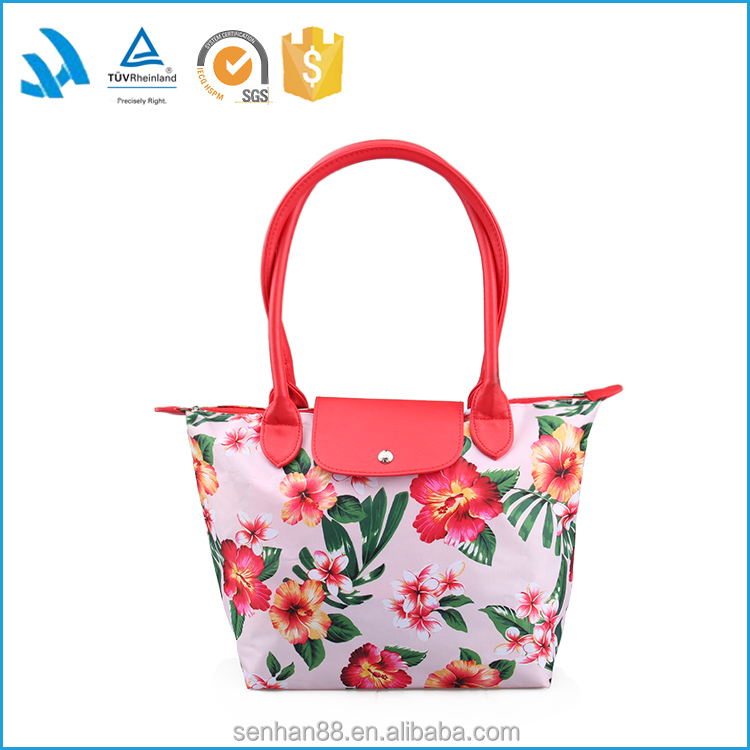 Short sample time custom leather fashion hand bag for lady on sale