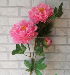 2015 new design artificial flowers real touch peony