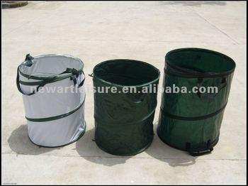 pop up garden bin trash cans garden bag buy trash cans double bin trash cans collapsible trash. Black Bedroom Furniture Sets. Home Design Ideas