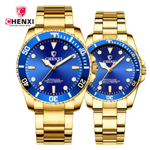 CHENXI 085 B Fashion Men And Women Quartz Watches Couple Clock IPG Waterproof Golden Steel Wrist Watches 2019 <strong>Hot</strong>