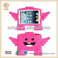 Hot pink angel design child proof EVA case for ipad mini 2 foam cover case