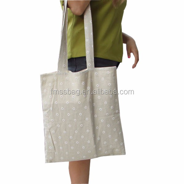 Simple Cotton Linen Custom Shopping Handbag /Women Fashion Tote Bag Shopping