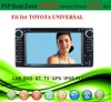 car dvd gps windows ce 6.0 fit for Toyota universal 6512 with radio bluetooth gps tv pip dual zone