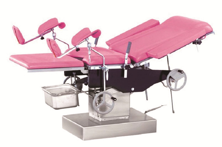 Stainless steel gynecological exam table manual for sale hydraulic obstetric delivery bed