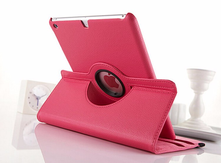 Smart Holder 360 Rotating Magnetic PU Leather Case Smart Cover Stand For iPad2345miniPro